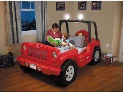 Red Jeep Toddler Bed Kids Cars Furniture Sleep Fun Converts Twin