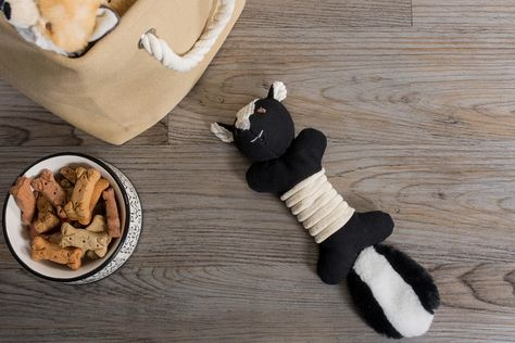 DII Skunk Squeaky Bone Pet Toy – DII Home Store