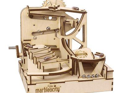 Marbleocity Skate Park Motor Drive Kit Set Of 10 Marbles Skate Park Wooden Diy Marble Machine