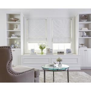 NEW Achim Cordless Blackout Easy Care Polyester Roman Shade White