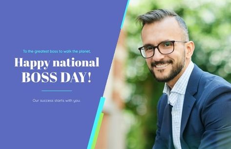 Happy National Boss Day Card Template