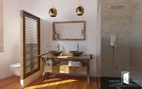 Salle de bain exotique design | Salle de bain moderne | Pinterest ...