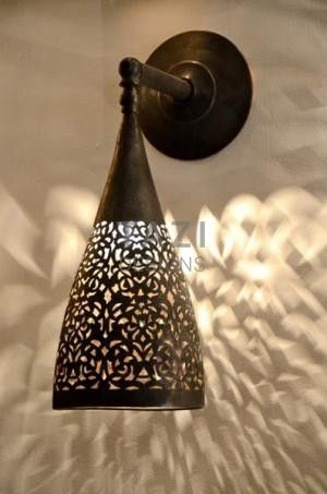 Moroccan Moorish Wall Sconce Cone Rustic Lamp Shades Wall