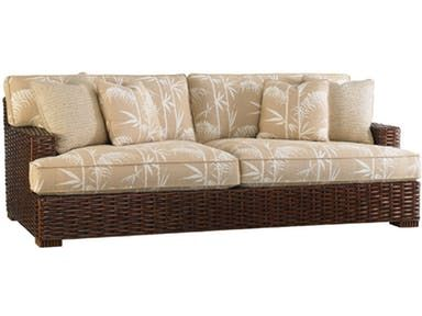 This Handsome Loose Back Woven Rattan Sofa Features A Lengthy