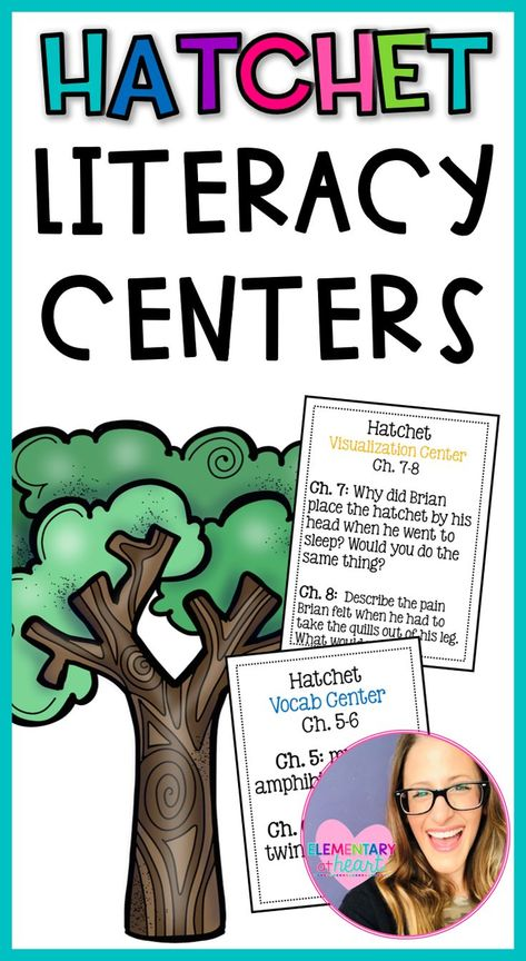 This item contains 5 centers used for the novel Hatchet.  The centers include:  - Comprehension  - Vocabulary  - Visualization  - Letter Writing  - Figurative Language  The Letter Writing and Figurative Language Center is the same center, but will obviously change when being introduced to each chapter.    #fifthgrade #novelstudy #hatchet #garypaulsenbooks #teacherideas #teachersfollowteachers #upperelementary #novels