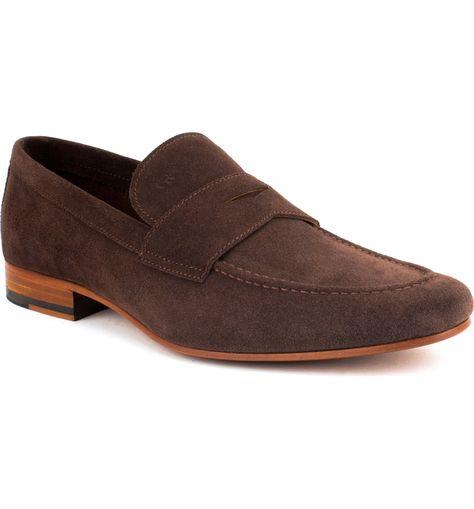 907574ca332 GORDON RUSH MEN S WILFRED SUEDE APRON TOE PENNY LOAFERS.  gordonrush  shoes