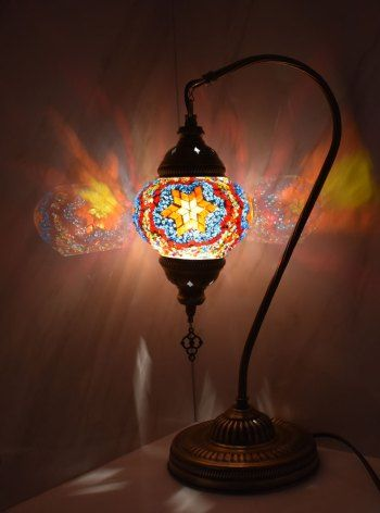 Turkish Mosaic Table Lamp Light Sunset Vazo Market Turkish Home Decor Lamp Table Lamp Table Lamp Lighting