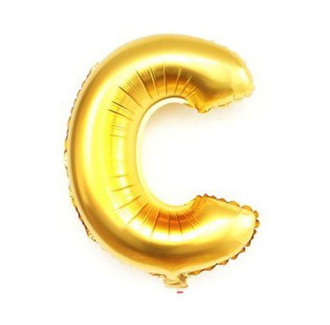 Mylar Foil Alphabet Letter Number Gold Letter C Balloon Small  Medium 12 inch Airfill Globo Ballon 14 Custom Banner Garland