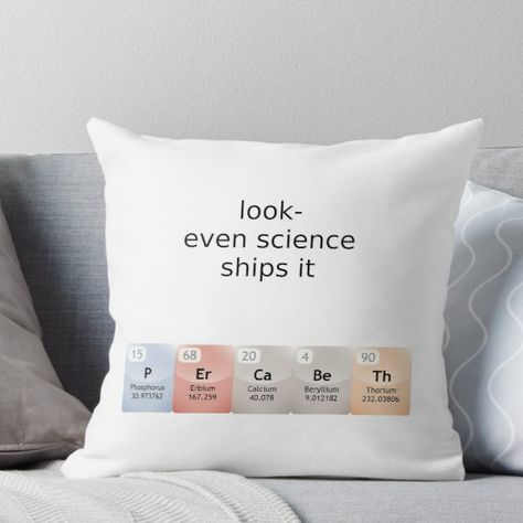 percabeth- even science ships it! Throw Pillow