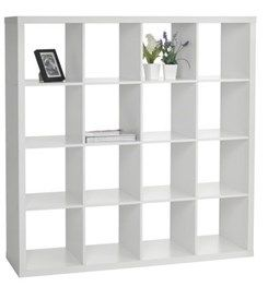 Kệ Sach Nysted 16 Ngăn Gỗ Cong Nghiệp Trắng Idee Sous Sol Chambre