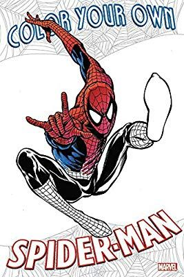 Amazon Com Color Your Own Spider Man 9781302903701 Various Books Spiderman Coloring Books Man