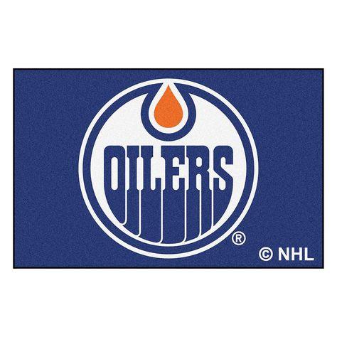 Fanmats Edmonton Oilers Starter Rug, Multicolor
