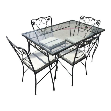 table and chairs meadow rose pinterest iron patio furniture 1960s Retro Furniture table and chairs meadow rose pinterest iron patio furniture patio and vintage patio furniture