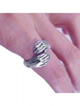 خاتم فضة عيار 925 خاتم العناق فضة ايطالى Rings Engagement Rings Jewelry