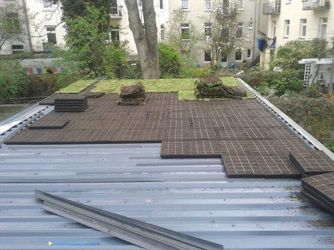 Trapezblechdach Dachbegrunungtotal Dachbegrunung Flachdach Begrunung Trapezblech Dach