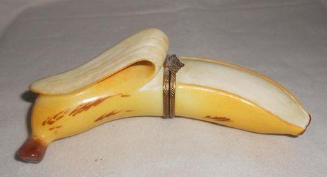 Rochard Limoges, Limoges Box, Banana, Banana Peel, Limoges Trinket Box, Home Decor, Gifts for Her, Fruit Decor