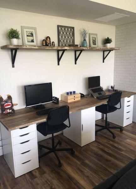 64 Best Ideas For Home Decoration Black Desks Home Home Office Layouts Office Desk Designs Home Office Storage