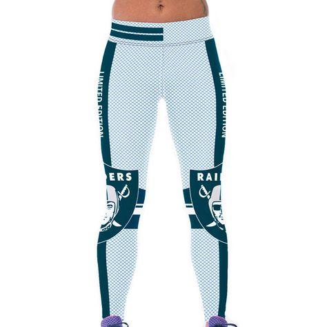 34 printed legging high waist wide belt legging S-4XL Oakland raiders No