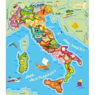 Mapa de Italia Regiones donde se desarrolla el romnico