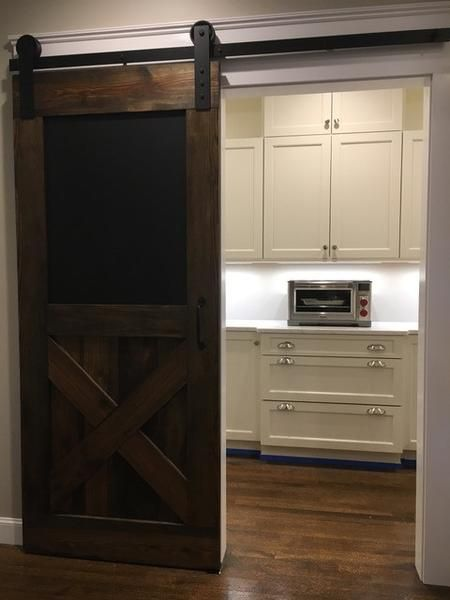 Vintage Farmhouse Chalkboard Door Interior Sliding Barn Doors Interior Barn Doors Craftsman Kitchen