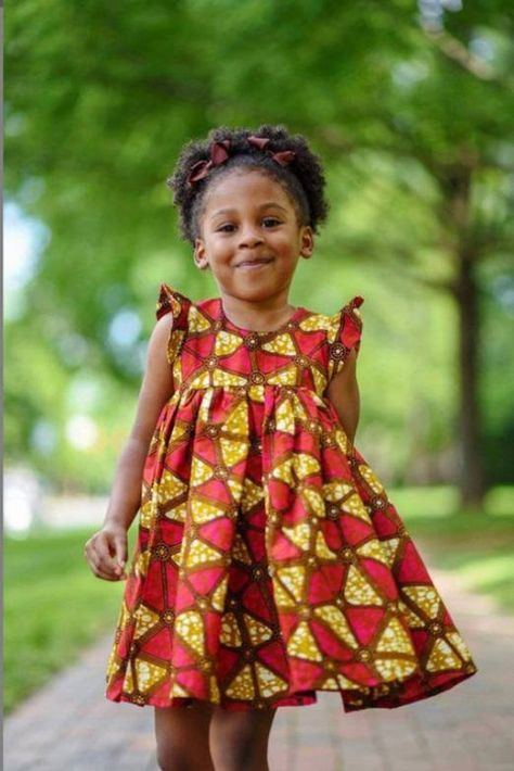 Hair Band GRNSHTS African Dresses for Baby Girls Toddler Kids Print Sleeveless Halter Dress Boho Clothes