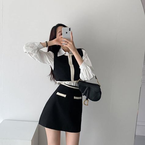 Girly casual clothes ideas style fall 2021 cute k-pop fashion instagram college