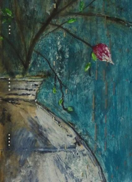 29+ Ideas For Flowers Vase Drawing Mixed Media #drawing #flowers