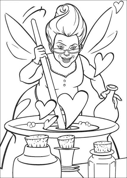 Disney Fairie Coloring Pages Fairy Witch Shrek Coloring Pages Coloringpages Coloring Books Valentine Coloring Pages Disney Coloring Pages