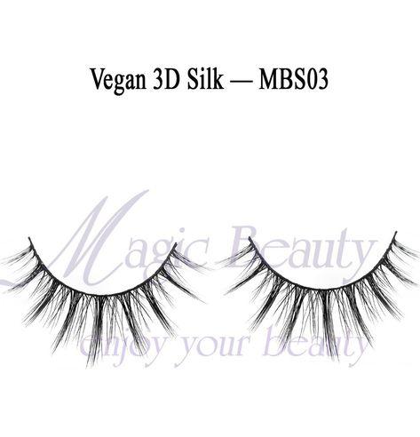Vegan 3D Silk Lashes-MBS03 Made of Korean PBT Fiber and