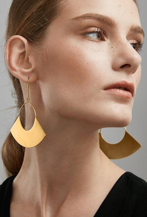 Big Earrings Textured Earrings Bold Earrings Artisan Earrings, Statement Earrings Mismatched Earrings Antique Gold Round Earrings