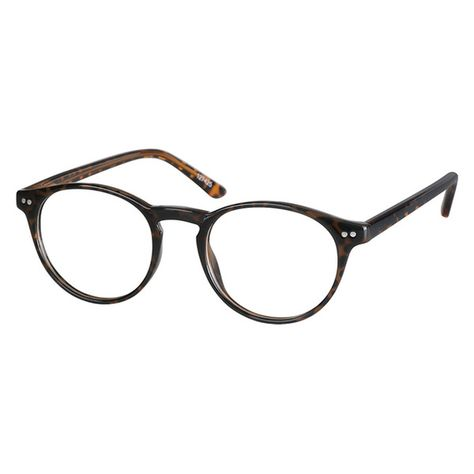 c6117a59e42 Zenni Classic Round Prescription Eyeglasses Tortoiseshell Other Plastic  127425