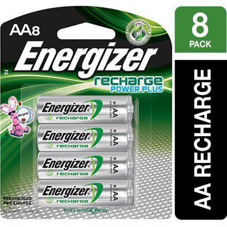 Energizer Recharge Power Plus Rechargeable Aa Batteries 8 Pack Walmart Com Off Grid Batteries Energizer Power