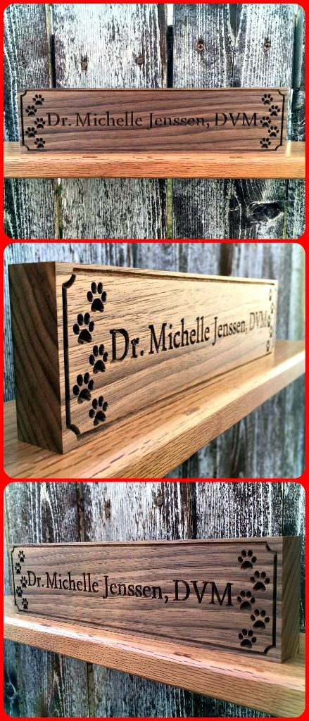 Desk Name Plate Teachers Gift Apples Name Plaque Wooden Name