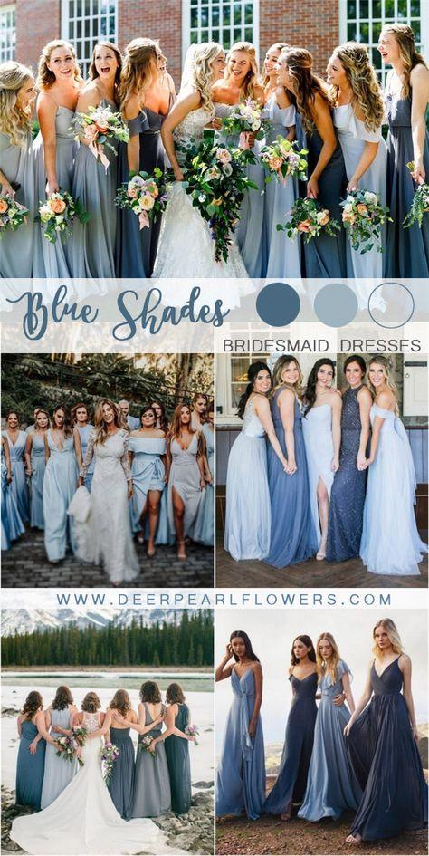 mixed blue bridesmaid dresses wedding weddings weddingideas blueweddings deerpearlflowers beautifulweddingbridedresses is part of Mismatched bridesmaid dresses blue - aesthetic bridesmaid megan+joey - bobbi photo