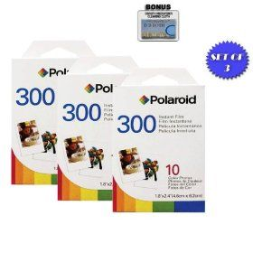 Designed for use with Fujifilm Instax Mini and PIC 300 Cameras Polaroid PIF300 Instant Film 50 sheets