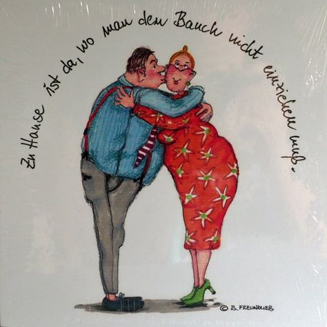 Holzbild - Barbara Freundlieb - ZUHAUSE IST DA WO MAN DEN BAUCH NICHT EINZIEHEN MUSS - Deko Unlimited - Exklusive Geschenke & Dekoration, 19,95 €