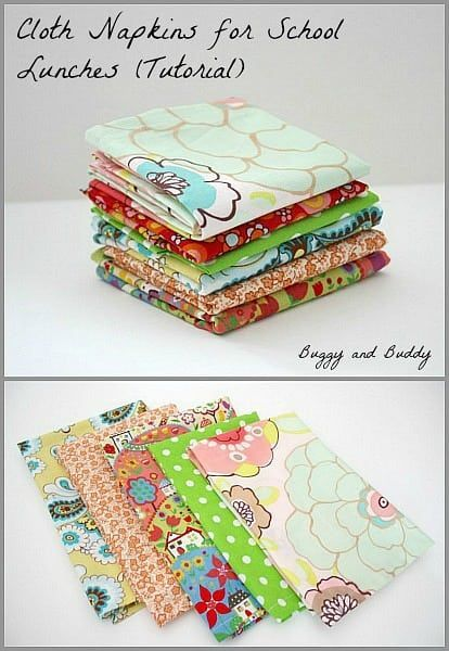 How To Make Cloth Napkins For Your Child S Lunch Box Cloth
