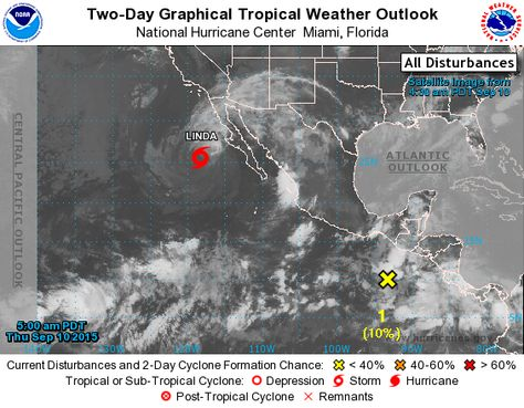Eastern Pacific 2 Day Graphical Tropical Weather Outlook National Hurricane Center Tropical Weather