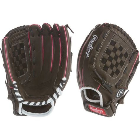 Rawlings Youth Storm 11 In Fast Pitch Softball Glove Black Bright Pink Baseball Equipment Softball Softball Gloves Baseball Equipment Youth Baseball Gloves