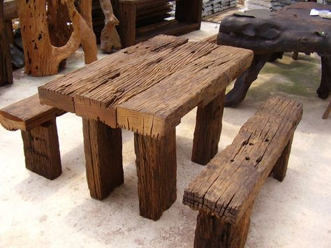 Apathtosavingmoney Wood Art Furniture RUSTIC OUTDOOR FURNITURE - designer mobel aus holz joyau bilder