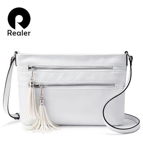 REALER women bag tassel crossbody bags artificial leather messenger  shoulder bags ladies purses and handbags high quality female Review 4df056ab04d8