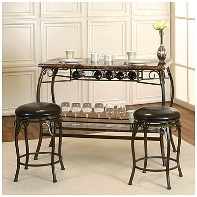 Our new wine bar. :>) Counter Height Marquee 3-Piece Bar Set at ...