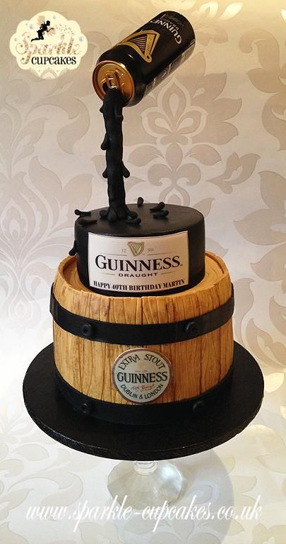 I loved this cake for a customer who wanted something a little different. All he said was he wanted it to be 'Guinness' themed and he loved the end result!