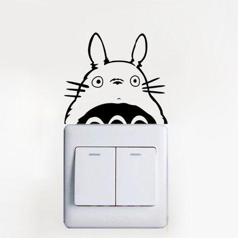 Pas cher Mignon Totoro Cartoon commutateur Stickers décoration Stickers muraux Art Mural enfants chambre de bébé, Acheter  Autocollants muraux de qualité directement des fournisseurs de Chine:                        Acheter avec confiance!                                             3 mois de garantie.