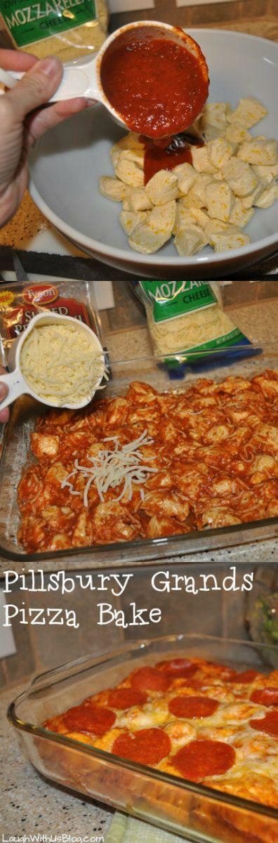Pillsbury Grands! Pepperoni Pizza Bake Recipe (Easy and yummy! 30 min.) AD