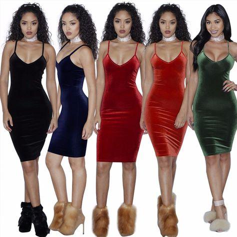 ad5e2e6287f Click to Buy    Women Sexy Velvet Dress High Quality Slim Dress V-neck Dresses  Bodycon Brand Designer Clothes Brief Style Vestido Bandage Dress   Affiliate.
