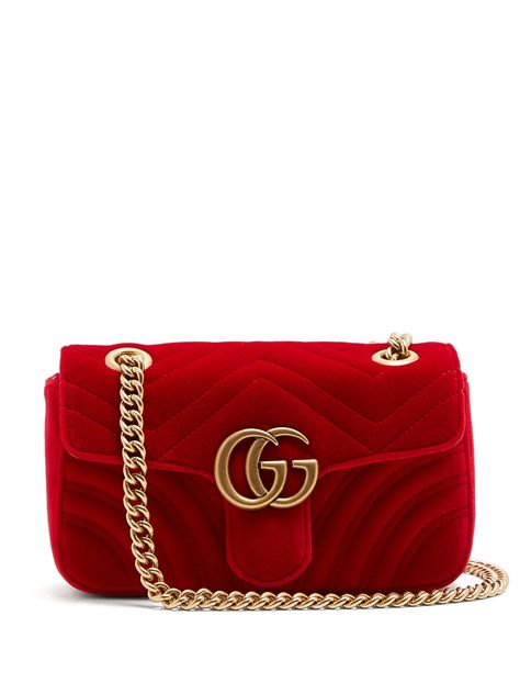 21ab6e4be Click here to buy Gucci GG Marmont small quilted-velvet cross-body bag at  MATCHESFASHION.COM