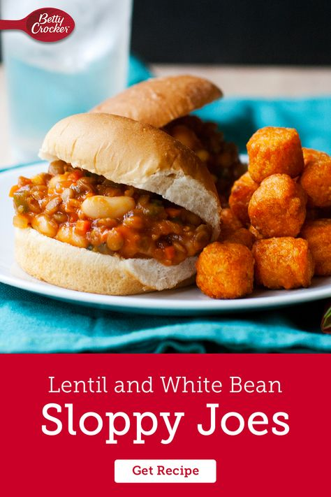 These easy Lentil and White Bean Sloppy Joes are proof that meatless meals can be hearty, flavorful and delicious. Pin this one for your next veggie craving.
