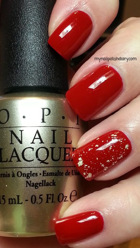 OPI Red Hot Rio with OPI The Man With The Golden Gun