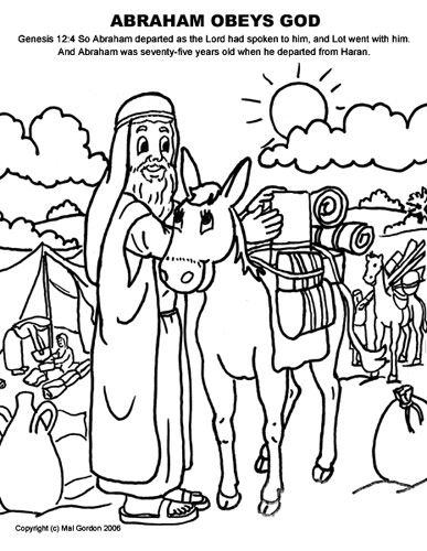 Abraham Follows God Coloring Pages By Crystal Bible Coloring